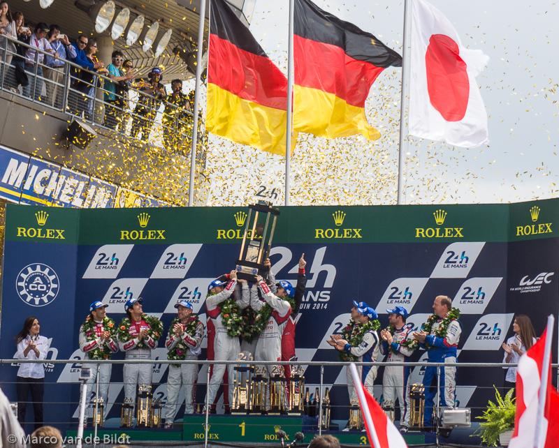 podium Audi Toyota