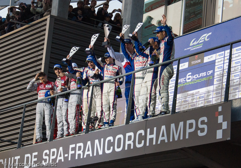 podium Toyota en Audi
