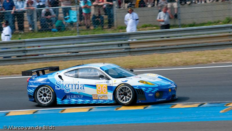 Foto: Marco van de Bildt. Michael vergers in de Virgo Motorsport Ferrrari F430 GT.