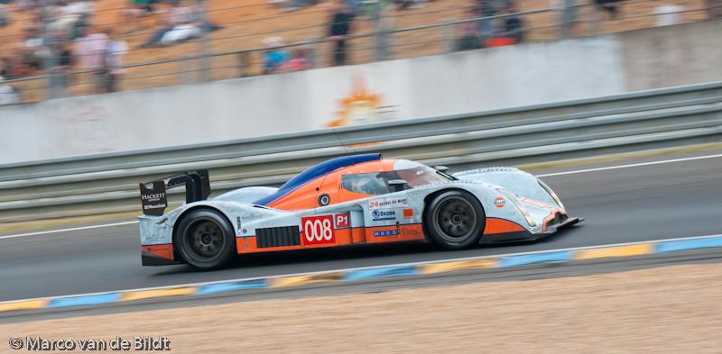 Foto: Marco van de Bildt. De 008 Lola-Aston Martin met Jos Verstappen.