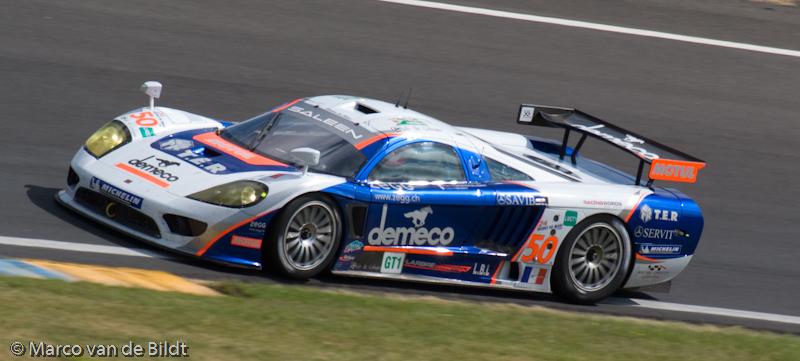 Foto: Marco van de Bildt. De Saleen S7R, in dit geval van Larbre Competition, 24 uur van Le Mans 2008.