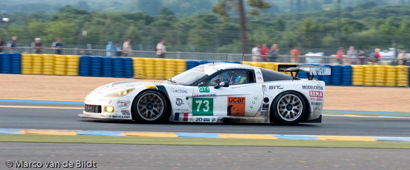 Foto: Marco van de Bildt. De Luc Alphand Corvette waarmee Xavier Maassen tweede werd in de GT1 klasse bij de 24 uur van Le Mans (209).