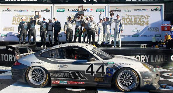 24 uur van Daytona 2012 GT podium Porsche