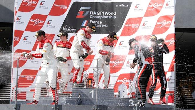 Nogaro podium 2012 FIA GT1