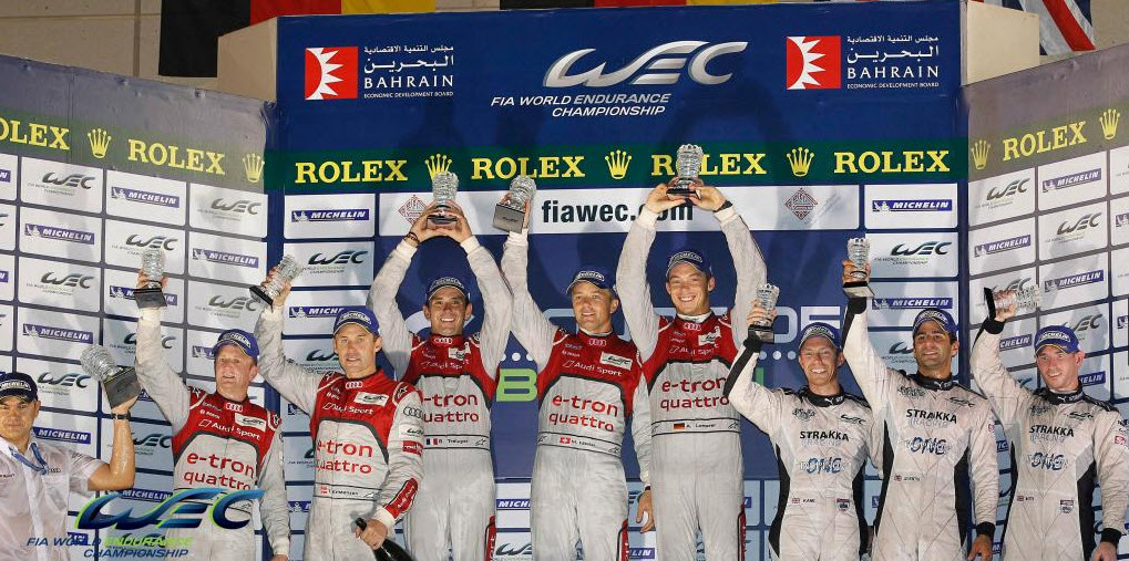 FIA WEC Bahrein podium