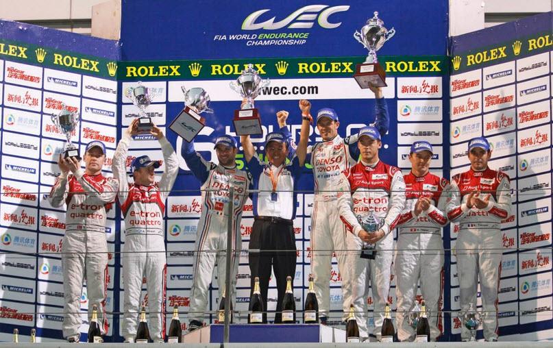 podium shanghai Toyota Audi