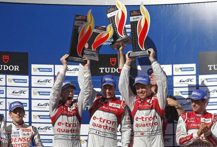 podium audi LM P1 COTO FIA WEC 201