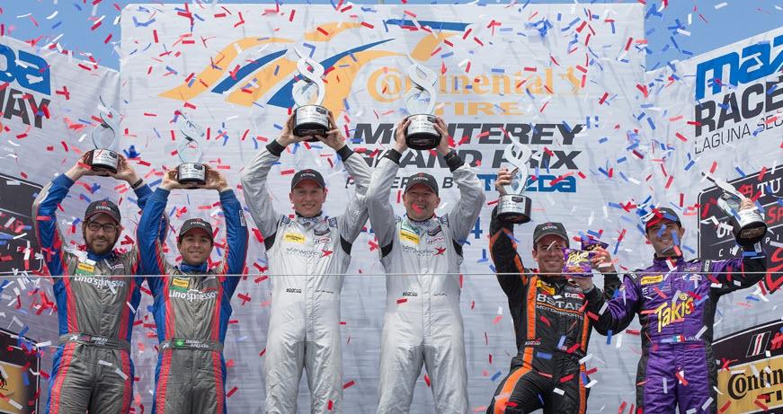 Laguna Seca 2014 podium LMPC