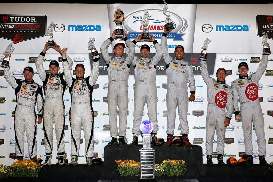 podium PC klasse Petit Le Mans 2014